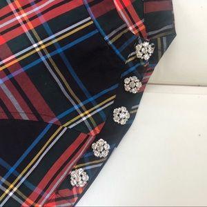 J. Crew Tops - J Crew Funnelneck Shirt in Tartan with Buttons